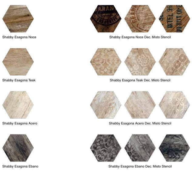 colori piastrelle esagonali finto legno