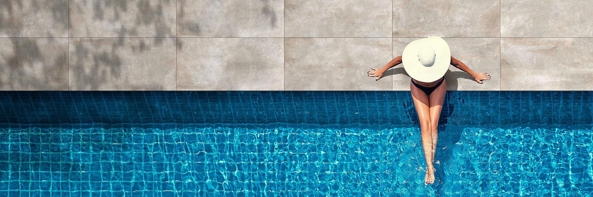 piscina con piastrelle da esterni 2 cm Anversa