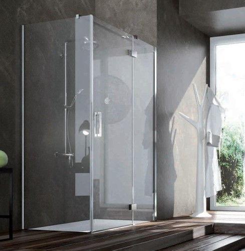 box doccia design vetro cristallo acciaio cromato