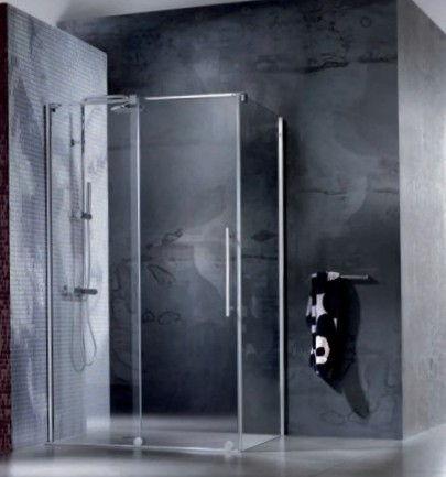 sostituzione box doccia con cabina doccia scorrevole design cristallo 8mm