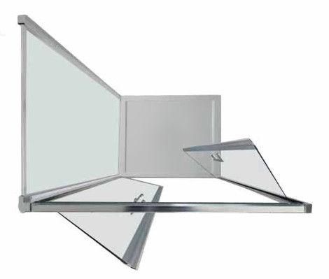 sostituzione doccia con cabina doccia apertura cristalli a saloon vista dall'alto