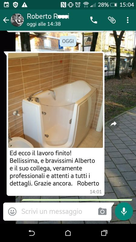 vasca con porta complimenti negozio a Venezia Mestre Chirignago