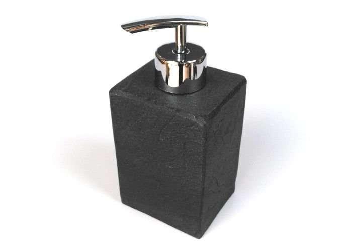 dispenser sapone accessorio da bagno in pietra nera negozio a Venezia Mestre Chirignago