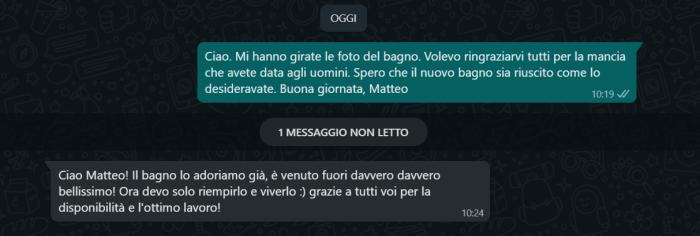 opinione cliente rifacimenti bagni Venezia Mestre