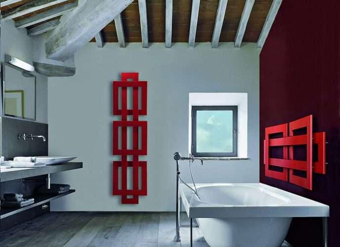 scaldasalviette bagno design rossi negozio venezia mestre
