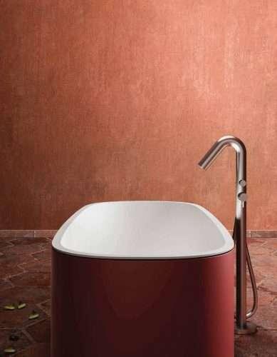 vasca da bagno colorata Blondecrazy free standing