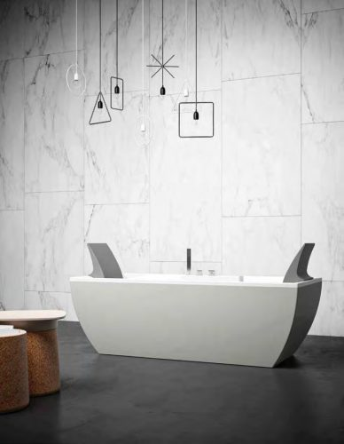 vasca da bagno moderna Kalì con 2 poggiatesta