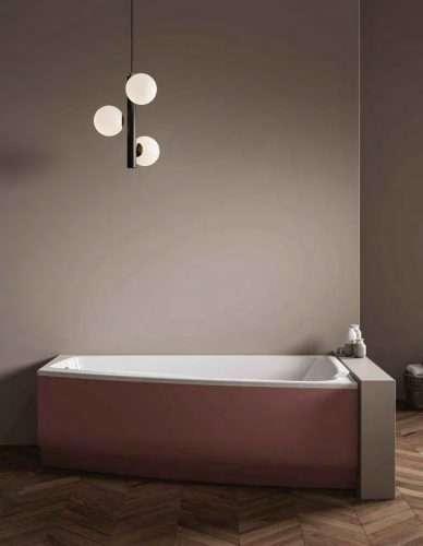 vasche da bagno angolari Shivà con pannelli colorati e idromassaggio