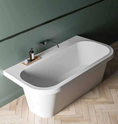 vasca da bagno moderna a parete modello Trocadero