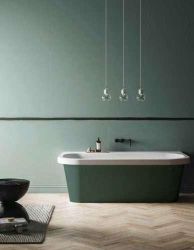 vasca da bagno a parete Trocadero colorata