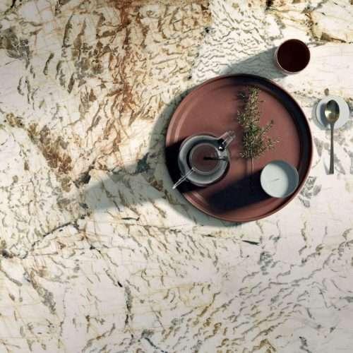 pavimento cucina gres porcellanato effetto marmo