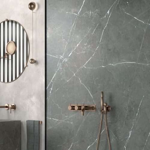 doccia gres porcellanato effetto marmo