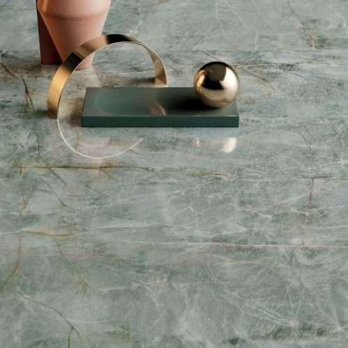 pavimento piastrelle gres porcellanato effetto marmo verde smeraldo