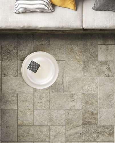 Piastrelle pavimenti gres Lavaredo effetto Pietra Venezia Treviso
