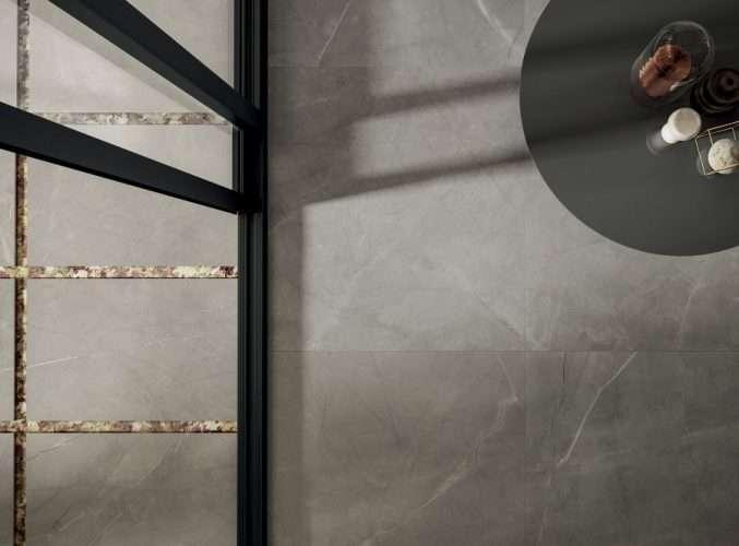 pavimenti gres porcellanato finto marmo negozio marcon