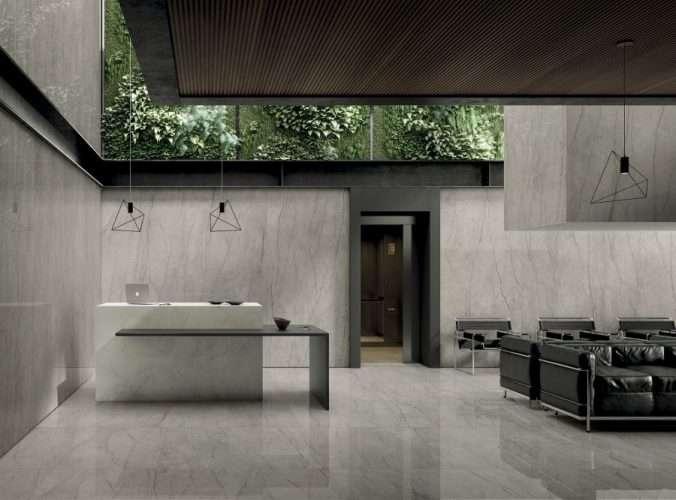 pavimenti gres porcellanato tipo marmo negozio marcon