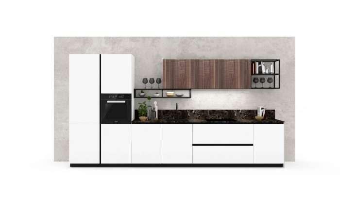 cucina moderna bianca e legno Loto